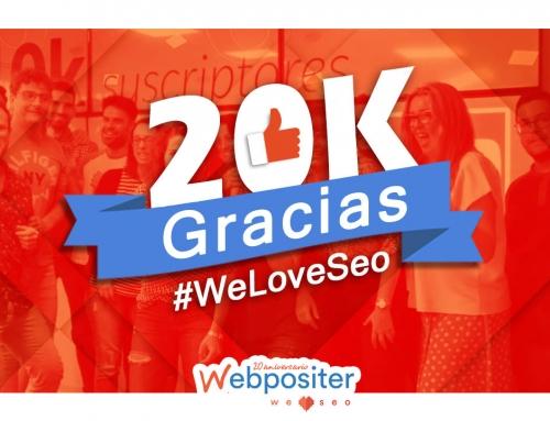 Ya hemos conseguido 20 000 suscriptores en Youtube y ¡todo ha sido gracias a ti!