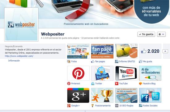 fanpage de Webpositer