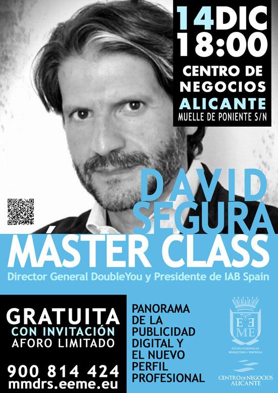 Alicante acogerá la Master Class gratuita de David Segura, Presidente de IAB Spain