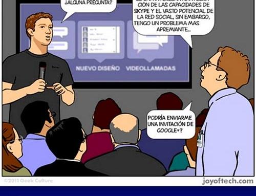Humor – Google+ metiendo el dedo en la llaga de Facebook