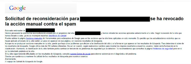 Penalización de Google Penguin Revocada
