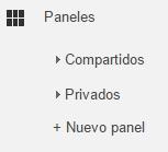 Compartir paneles de Google Analytics