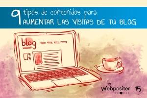 Tipos de contenidos para aumentar visitas de blog