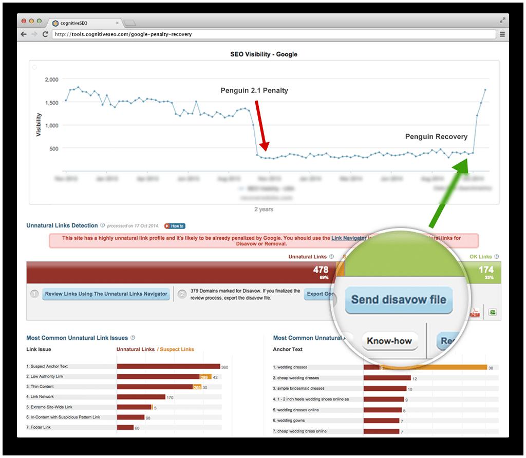 Ejemplo de un miembro del BlackHat Forum sobre su recuperación milagrosa de Penguin aplicando cambios extraidos del GoogleGate
