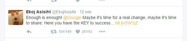 tuit-ekoj-google