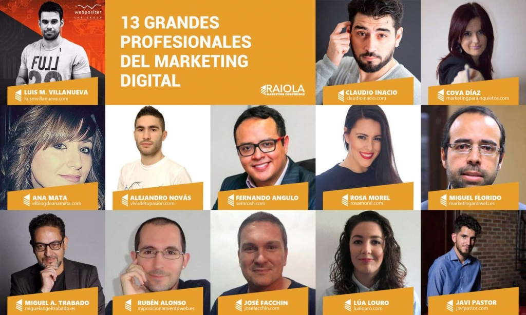 Ponentes Raiola Marketing Conference