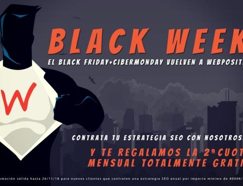Contrata tu Estrategia SEO anual y te regalamos la 2ª cuota GRATIS: Black Friday y Cyber Monday en Webpositer