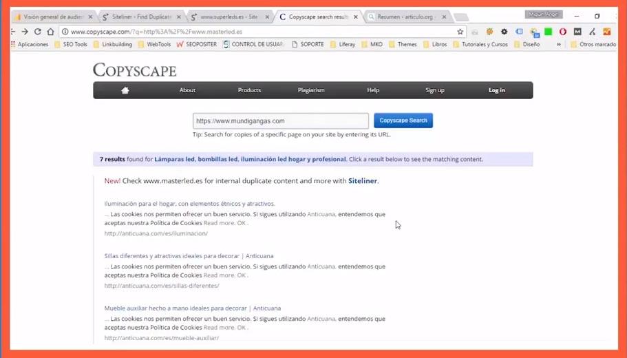 Detectar contenido duplicado con Copyscape