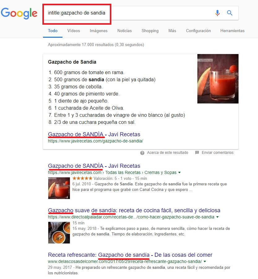 Footprint de Google intitle: