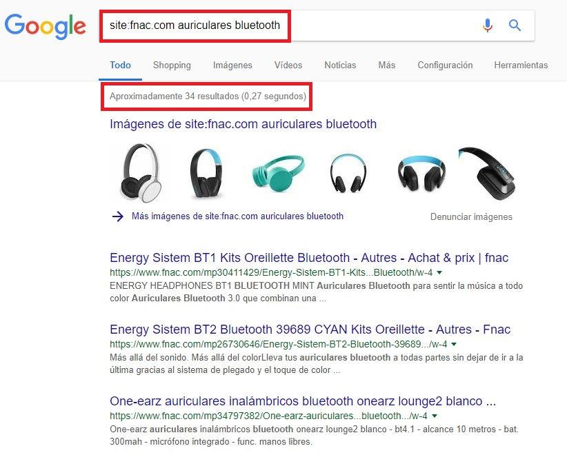 Footprints de búsqueda en Google