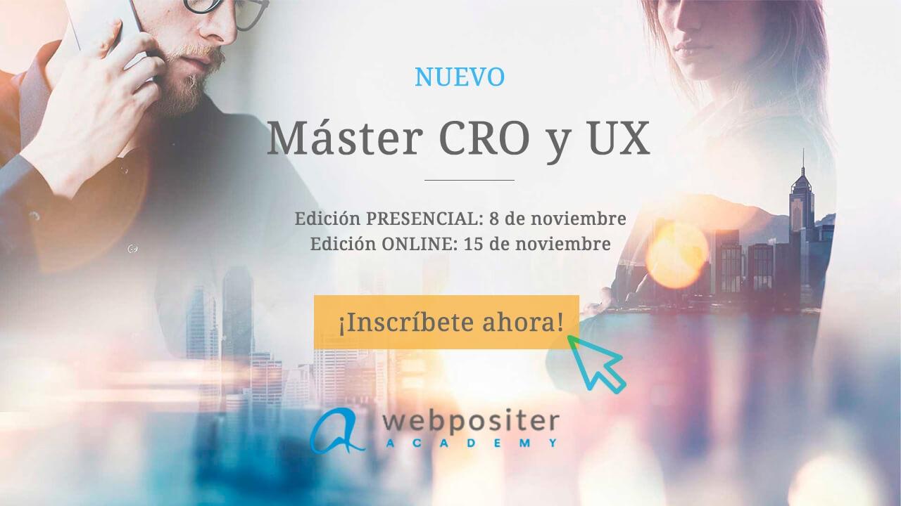 Máster CRO y UX Webpositer Academy