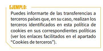 ejemplo transferencias datos a terceros países