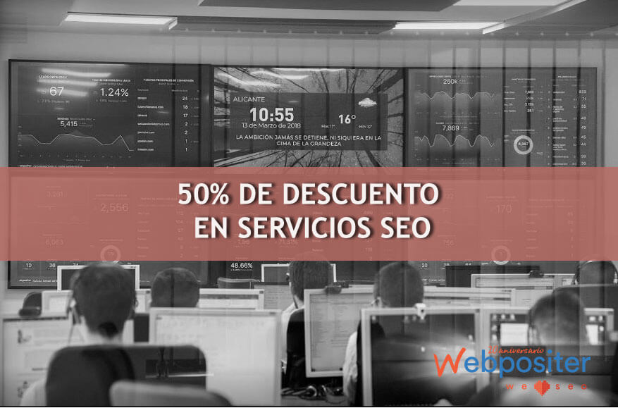 Descuentos en servicios SEO Webpositer