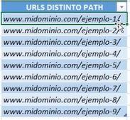 URL con distinto path