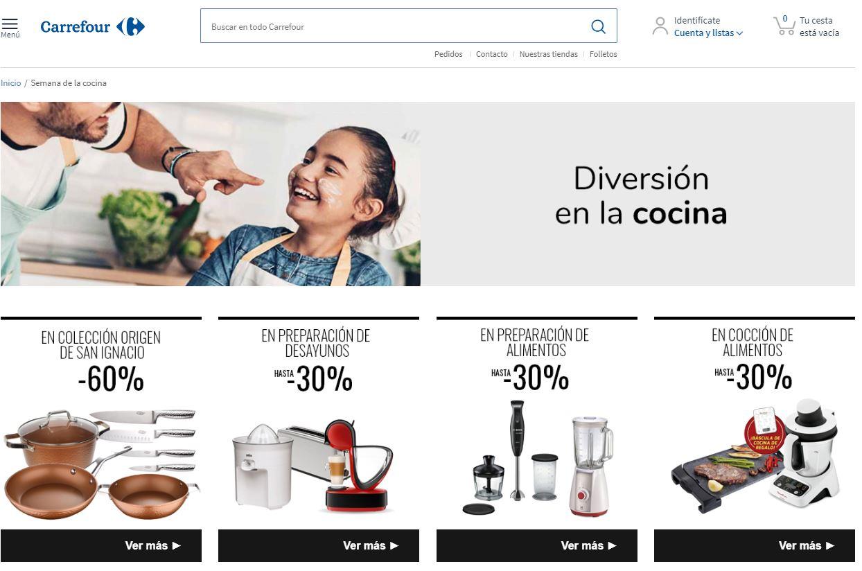 Venta online de menaje de cocina en crisis coronavirus