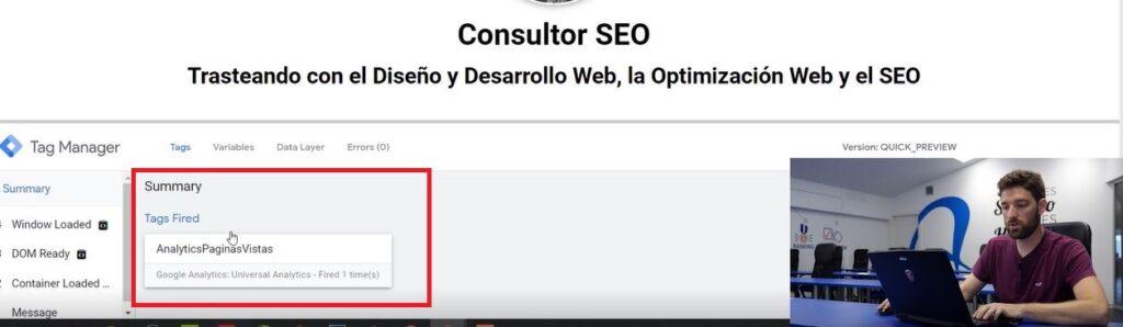 Comprobación Google Tag Manager
