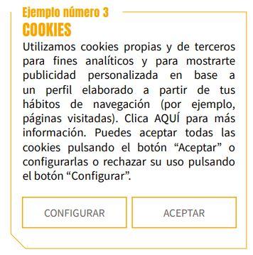 ejemplo aceptar cookies