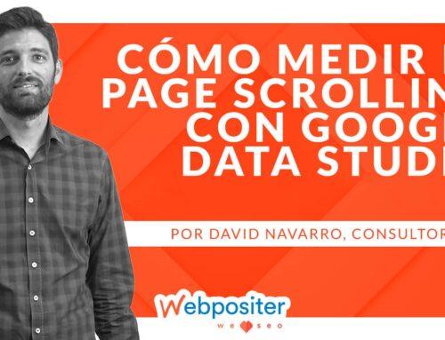 Google Data Studio: cómo medir el porcentaje de <em>scroll</em> de las páginas de tu web para optimizar su conversión