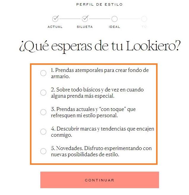 Lookiero - formulario
