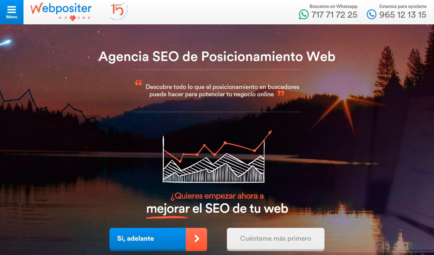 Webpositer. Tu Agencia SEO de Posicionamiento Web